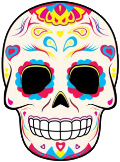 skull mexican painting moodboard festival freetoedit