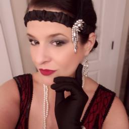 costume flapper selfie me rachie