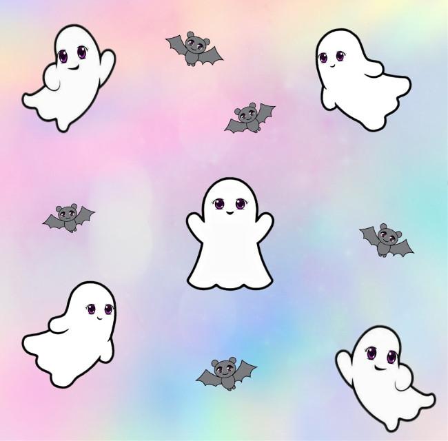 """FEAR ME, I'M CUTE""   #freetoedit #kawaii #ghosts #editedmyme  #cutenessoverload #testing"