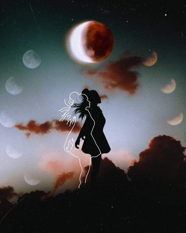 #freetoedit #moons #moon #sketch #sketcheffect #lineart #lines #sky
