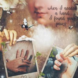 art polaroids hands paw us purelove moon flowers magical dreamy stestyle ste2019 madewithpicsart love