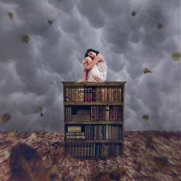 freetoedit blacksmokebrush highlight woman books