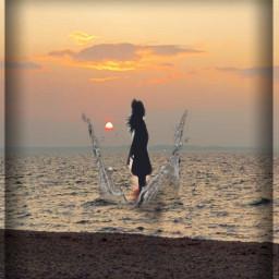 dusk water splash girl freetoedit ircdusk