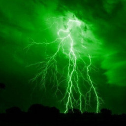 freetoedit aesthetic green lightning beautiful