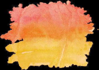 watercolor watercolour painting sunset freetoedit