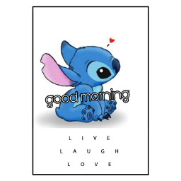 freetoedit stich stich!😍😍❤ stich❤ goodmorning