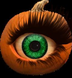 halloween eye pumpkin eyelash freetoedit