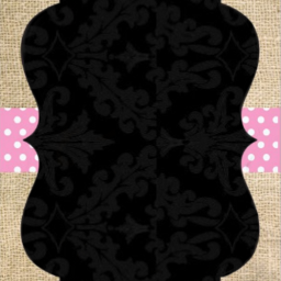 freetoedit card invitation burlap pink
