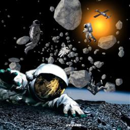freetoedit aziz vipaziz sky space galaxy star sun shootingstars espacio astronaut