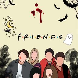 echalloweenspirit halloweenspirit friends halloween spookyseason freetoedit