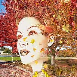 freetoedit female autumn falling colorful myeditoffreetoedit
