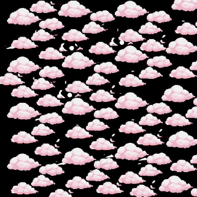 #cloud #pink #cute #tumblr #nichememe #anime