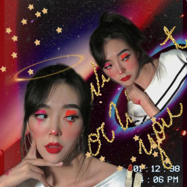 #freetoedit #halloween #makeup #selfies #stars
