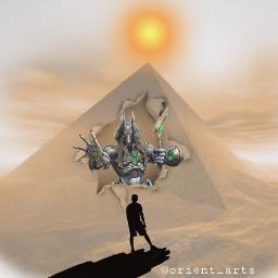 imagination mythology pyramid sun anubis freetoedit