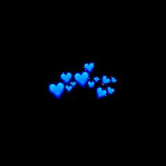 blueheart blueheartcrown blue heart crown freetoedit
