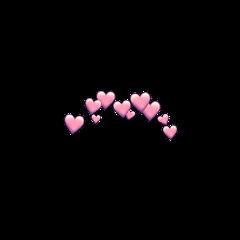 freetoedit sticker heartcrown pinkhearts pinkheart