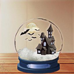 freetoedit castle halloween snowglobe srcbats
