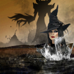 witches scary brown splash vipshoutout freetoedit