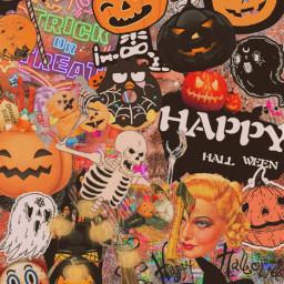 retrostyle spookyseason halloween wallpaper vintageeffect freetoedit