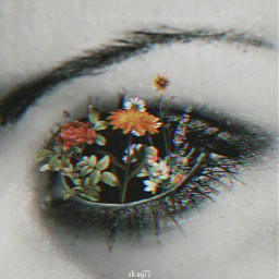freetoedit &irl eye flowers be_creative