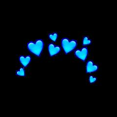 freetoedit blueheart blue heartcrown heart