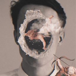 freetoedit aesthetic angelic surrealism vhs2