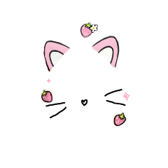 cat whiskers pink strawberry heart freetoedit