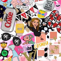 freetoedit trendy collage dietcoke stickers scrunchie