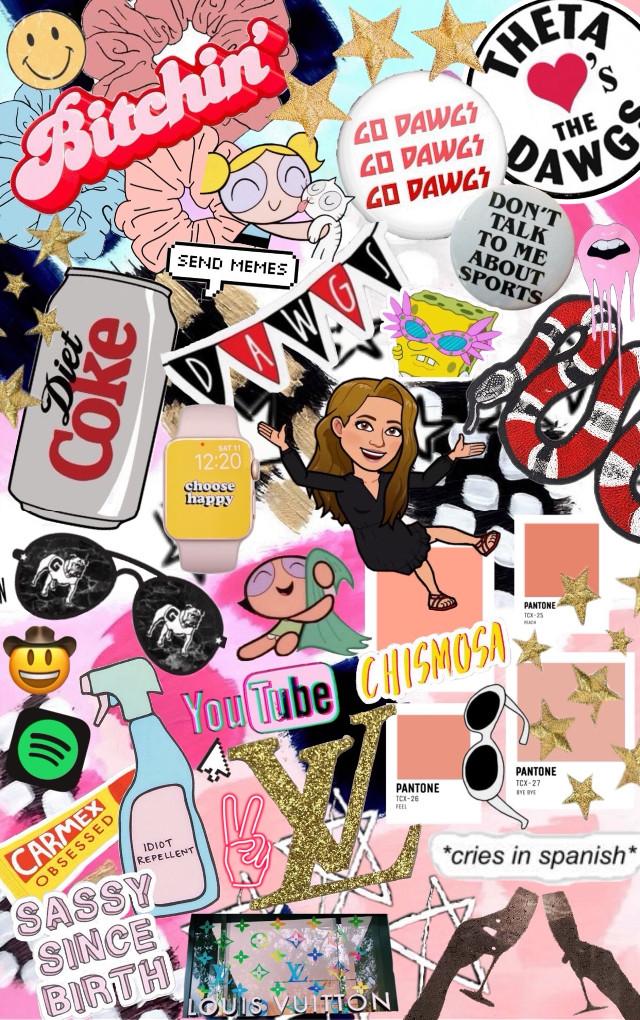 #freetoedit #trendy #collage #dietcoke #stickers #scrunchie #music #louisvuitton #youtube #gucci #uga #college #sorority #vsco
