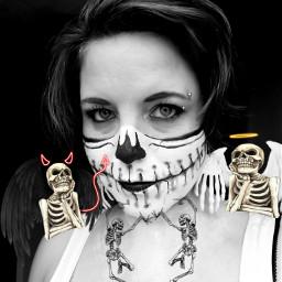 freetoedit skullhead skullwoman halloweenmakeup halloween2019 echalloweenspirit