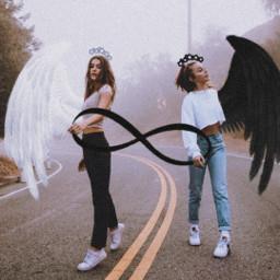 freetoedit bff angels infinity noiseeffect