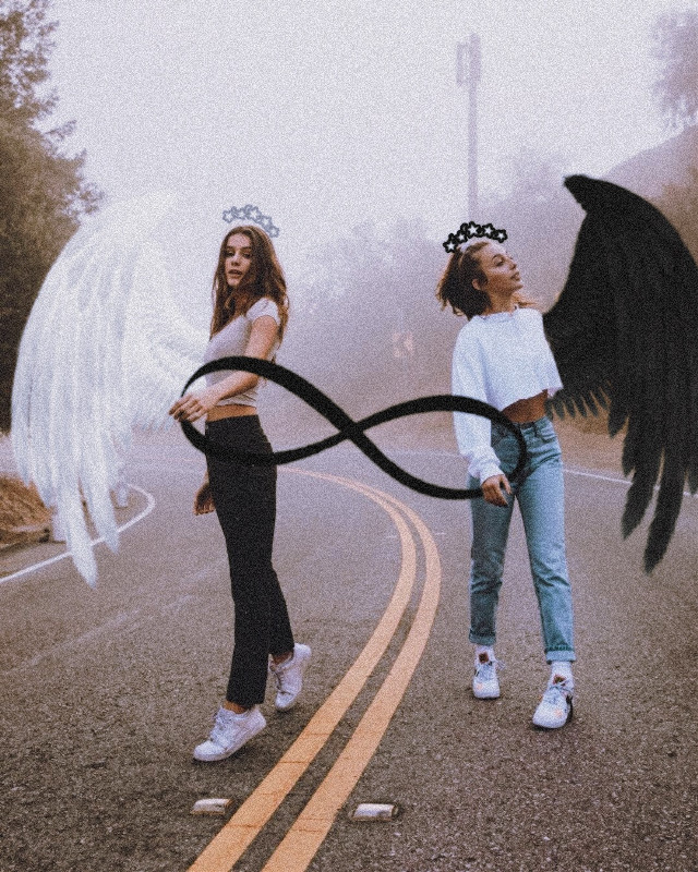 #freetoedit #bff #angels #infinity #noiseeffect #film2effect #streetphot.                                             *Like and share if you want more posts like this*