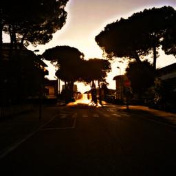 sunset street town