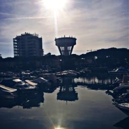 watertower city boats habor sunshine