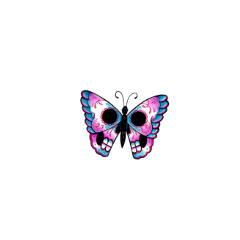 freetoedit dayofthedead butterfly skull sugar