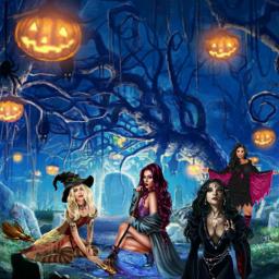freetoedit halloweensticker spookyedit irchalloweensilhouette halloweensilhouette