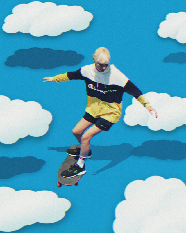 #freetoedit #clouds #grng #skateboarding #editedbyme