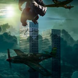 freetoedit vipaziz kingkong air airplane sky filmkingkong freetoedit sun