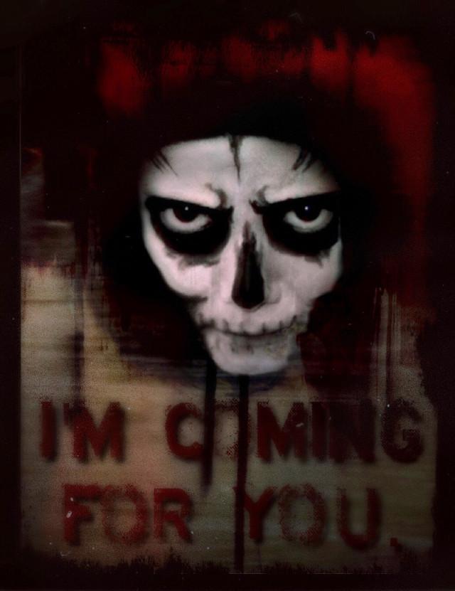 You know who you are. 😈 #Halloween #creepyart #scary #darkart #madewithpicsart #skeletonface #myedit #freetoedit