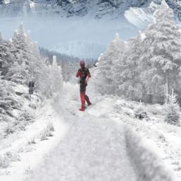 deadpool snow coldoutside freetoedit