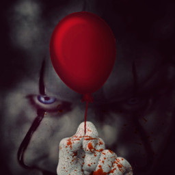 happyhalloween surreal it darkart clown scary