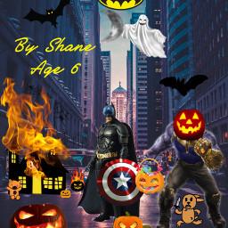 halloween kidsart freetoedit
