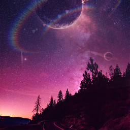 freetoedit galaxy sky planet lensflare curvestool madewithpicsart myedit