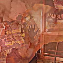 freetoedit remixed fire smoke fireman