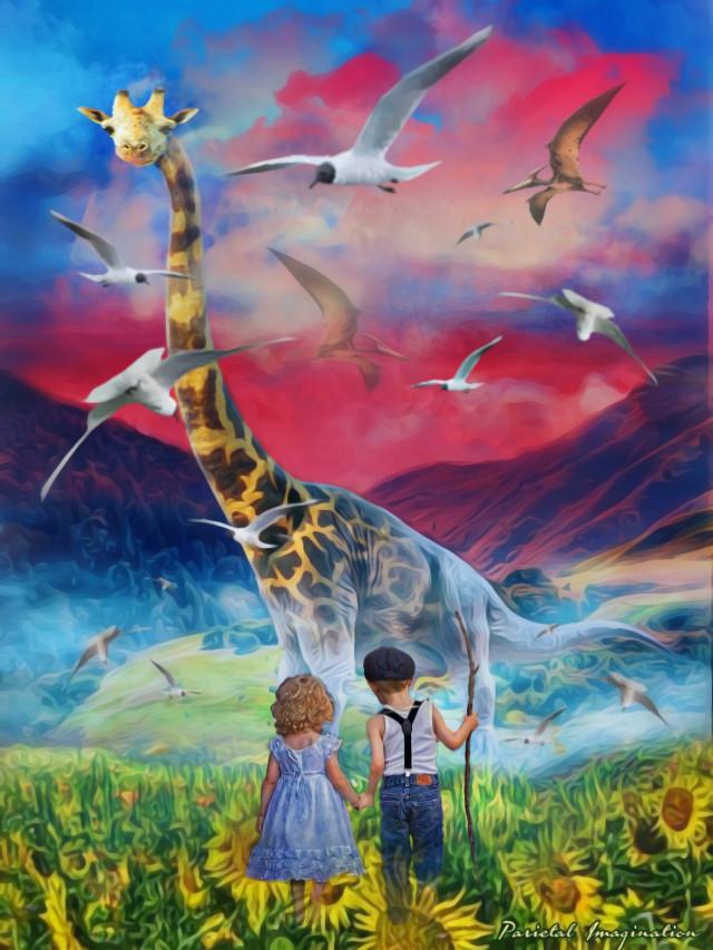 Edit by: Parietal Imagination Art  @pa #freetoedit #giraffe #surreal #surrealism #dream #flowers #field #children #fx #vip #madewithpicsart #parietalimagination  💗💗💗💗💗