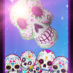 freetoedit skulls dayofthedead ecskullseverywhere skullseverywhere DiaDeMuertos diadelosmuertos