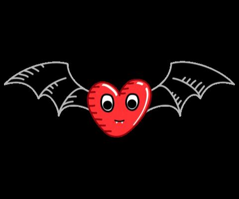 #Bat, #heart, #halloween, #bats, #scary, #love #freetoedit