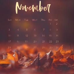freetoedit november autumn fall mapleleaves scenery srcnovembercalendar