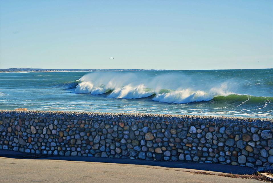 #freetoedit #atlanticocean #waves #windy #november #
