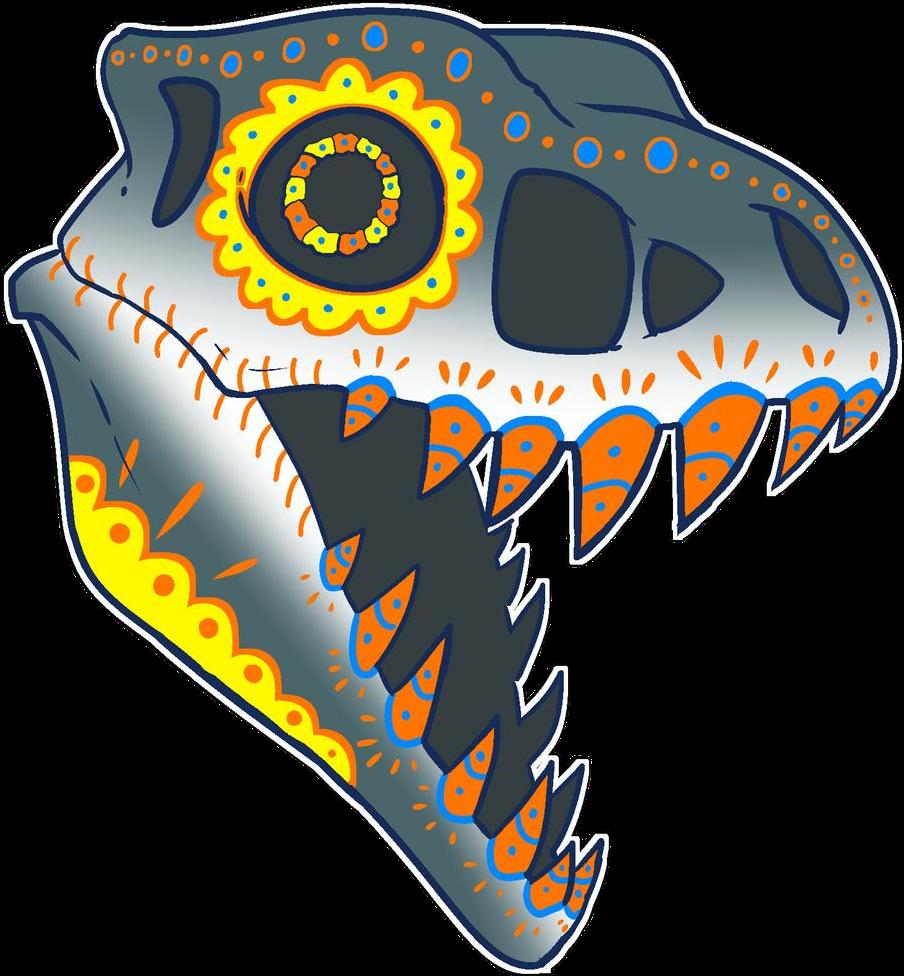 #sugarskull #dinosaurskull #dinosaur #trex #prehistoric #primal #extinct #freetoedit